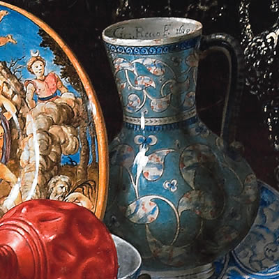 Bodeg n con sirviente ducal house of medinaceli foundation for Jarrones persas